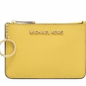 Michael Kors Yellow Coin Pouch